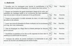 quest. biodiversité réponse VAP